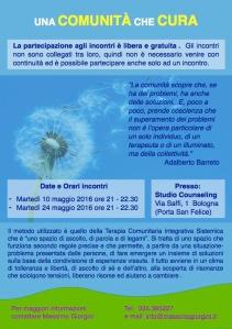 una comunità che cura Barreto Bologna