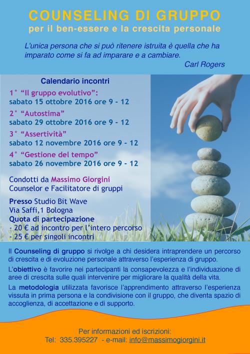 Counseling di gruppo 2016 Massimo Giorgini