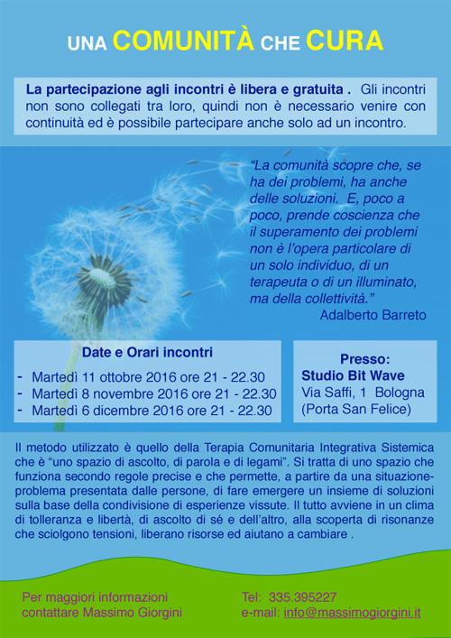Una comunità che cura a Bologna - Massimo Giorgini - Ruota Barreto