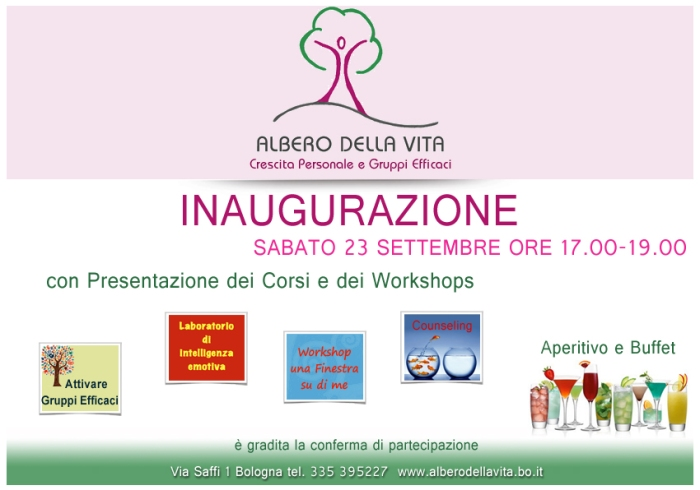 Inaugurazione Albero della Vita: Facilitazione per Gruppi efficaci, Counseling